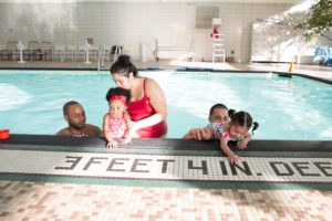 Instructor and parents help boost out of water