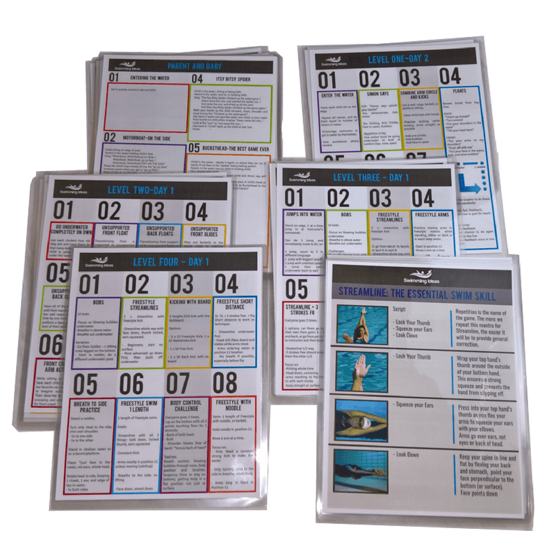 Swim Lesson Plans and Skill Sheets
