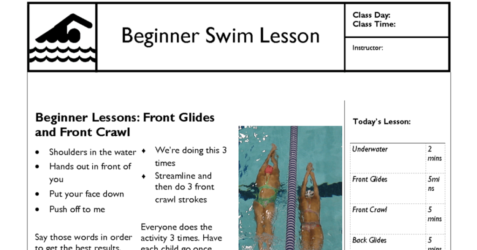 Beginner swim lesson temp new