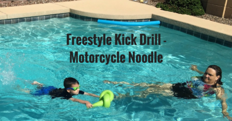 Freestyle Kick Drill - Motorcycle Noodle