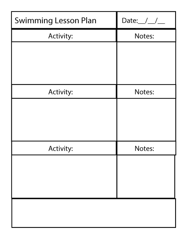swimming lessons plan  u2013 swim lesson plan template