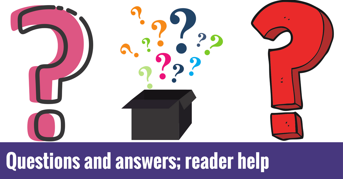 Questions and Answers; Reader Help
